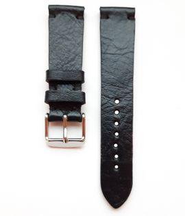 Pasek do zegarka 20mm skóra czarny - polskie - Lamato