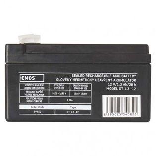 Akumulator AGM 12V 1,3Ah faston 4,7