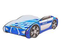 Łóżko dziecięce samochód POLICJA z materacem