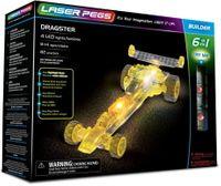 Laser Pegs Świecące Klocki 6W1 Dragster 82El. 61012