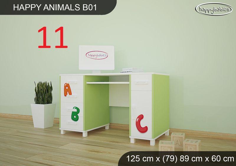BIURKO DZIECIĘCE  HAPPY ANIMALS B01 AM01 Zielone zdjęcie 11