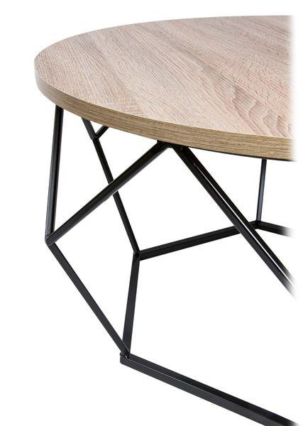 Stolik kawowy geometryczny Diament w kolorze czarny - ciemny dąb 70 cm zdjęcie 2