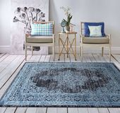 Dywan nowoczesny niebieski Herold 02 Wymiary - 120 x 170 cm, Kolor - niebieski