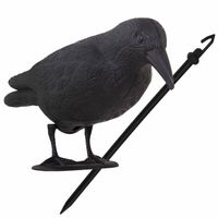 Odstraszacz ptaków 11x39x18,5cm stojący kruk czarny