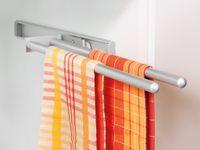Stalowy wieszak na ręczniki do kuchni, łazienki, 44 cm