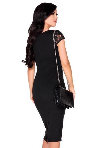 Obcisła elegancka Sukienka koronkowa Midi na imprezę szykowna XL zdjęcie 2
