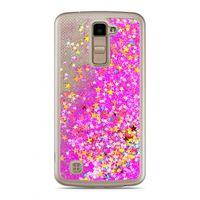 Etui Nakładka Płynny Brokat  LG K10 Różowy