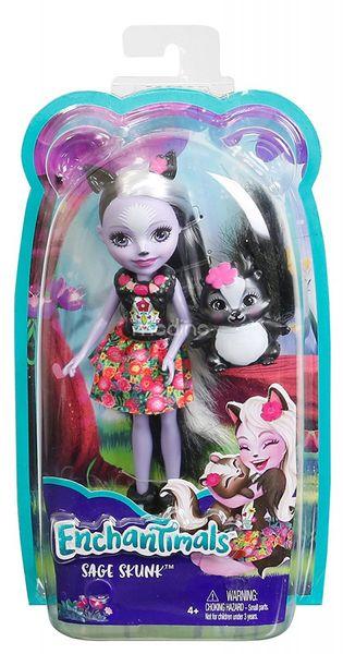 Enchantimals Sage Skunk Lalka + zwierzaczek skunks Mattel DYC75 DVH87 zdjęcie 5