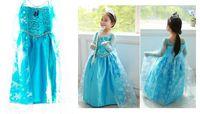 Kostium Elsa Kraina Lodu niebieska sukienka 130cm iko