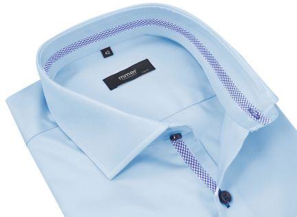 Błękitna koszula z długim rękawem Mmer 202 176-182 / 38-Slim