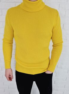 Cieply meski sweter golf neon 753 - L