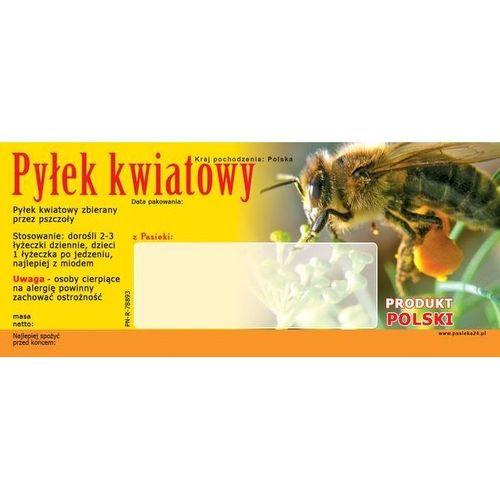 """Etykieta, naklejka """"Pyłek kwiatowy"""" 50szt. na Arena.pl"""
