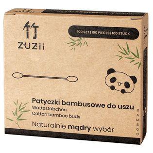 Bambusowe Patyczki Kosmetyczne Z Bawełną Proste Zuzii, 100 Szt