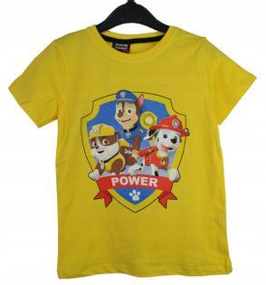 Koszulka Psi Patrol żółta, bawełna roz.116