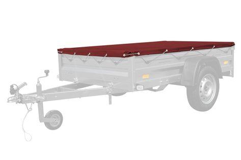 Czerwony pokrowiec płaski 200x125 do przyczepy Garden 205