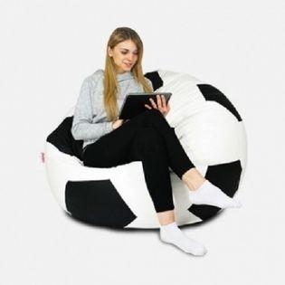 Pufa fotel worek sako sportowa PUFA piłka nożna XL