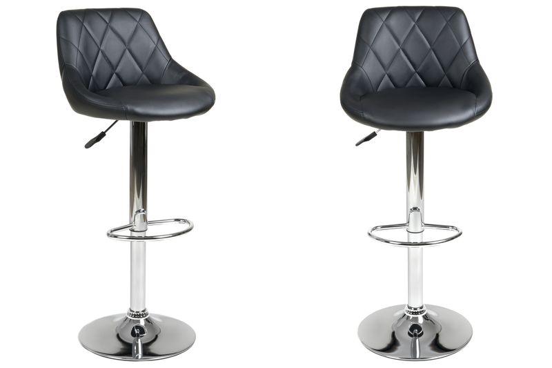 Hoker Krzesło Barowe Pikowane Obrotowe Vecotti