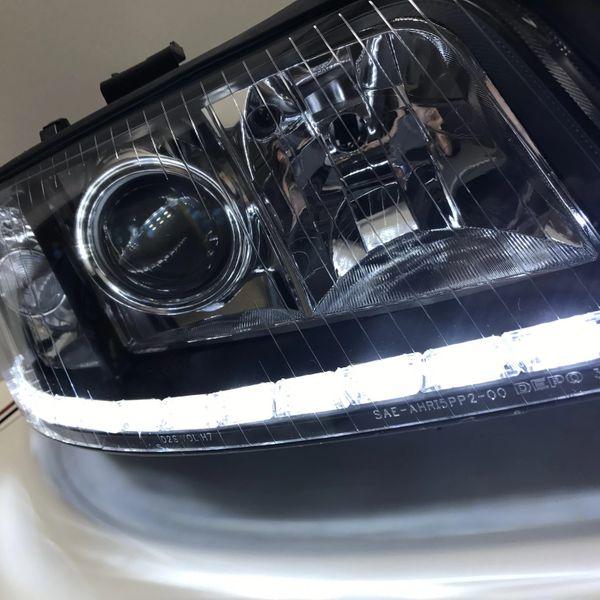 Lampy Audi A6 C5 Bixenon Soczewki Led Dzienne Kier Barwa Xenon 10000k