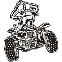 Naklejka dekoracyjna D 83, D83, moto quad motocykl Rozmiar - XXL, Kolor - Zielony, Odbicie lustrzane - Nie