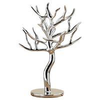 Stojak na biżuterię srebrne drzewko dekoracja