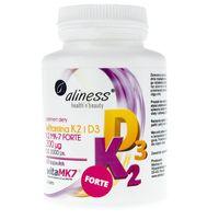 Aliness Witamina K2 FORTE MK-7 200 µg z Natto + D3 - 60 kapsułek