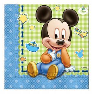 Serwetki Mickey Baby URODZINY ROCZEK 33x33cm 20szt