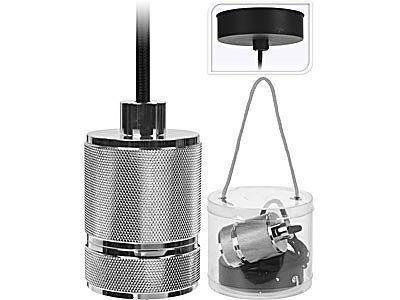 Lumarko lampa wisząca oprawka do żarówki 7cm srebrna