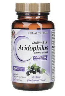 Chewable Acidophilus i Bifidus - 100 tablets Holland & Barrett