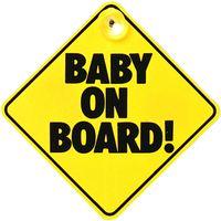 Naklejka do samochodu przyssawka BABY ON BOARD! Dziecko