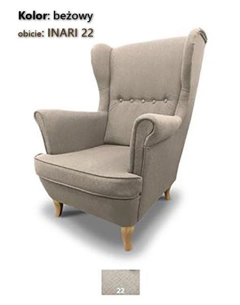 Fotel Uszak Skandynawski - stylowy design zdjęcie 3