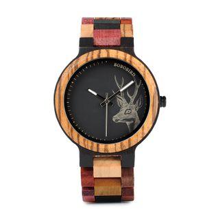 Zegarek drewniany PREMIUM BOBO BIRD P14-2 (duża tarcza)