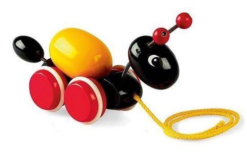 BRIO Drewniana Zabawka do Ciągnięcia Mrówka