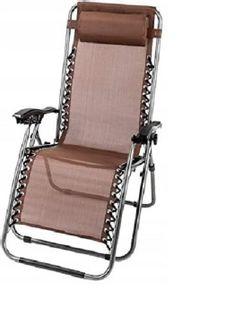 Leżak Fotel Ogrodowy Składany Regulowany GRAVITY