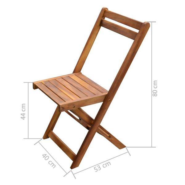 Meble Ogrodowe Stół I Dwa Krzesła Drewniane Składane