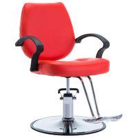 Fotel barberski ze sztucznej skóry, czerwony GXP-679879