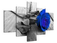 Obraz Drukowany 100x70 Chabrowa różyczka  panorama  jedyny w swoim rodzaju