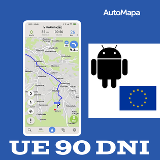AutoMapa Europy licencja na 3m-ce (90 dni) Android