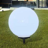 Zewnętrzna lampa solarna LED, kula, 50 cm, 1 szt., z bolcem