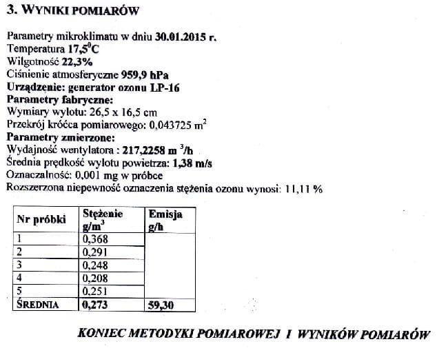 POLSKI OZONATOR LP-16 GENERATOR OZONU 16-59 g/H na Arena.pl