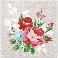 SERWETKI papierowe BUKIET kwiatów KWIATY 20 szt