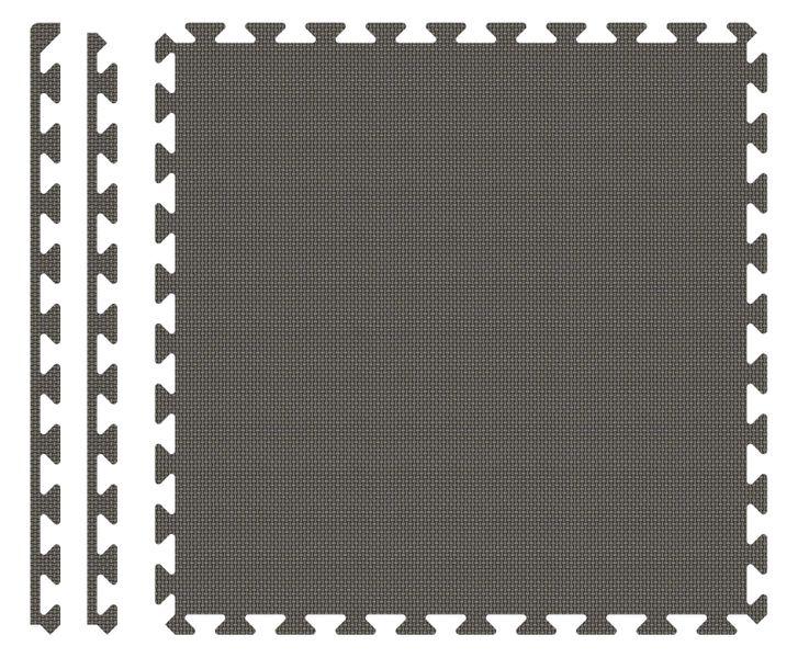 PUZZLE PIANKOWE MATA 4szt 62x62x1,1 cm Szary zdjęcie 2