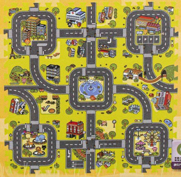 Duże puzzle piankowe mata dla dzieci ulica zdjęcie 1