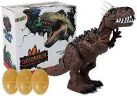 Dinozaur Brązowy na Baterie Porusza się z Projektorem Dźwiękiem