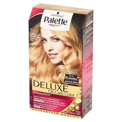 Palette Deluxe Farba Do Włosów Trwale Koloryzująca Z Mikroolejkami 345 Złoty Świetlisty Perłowy Blond na Arena.pl