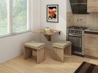 Stół składany przyścienny Alpin 7 - 70x70 cm -  bez taboretów