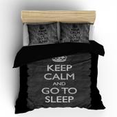 Pościel holenderska Nightlife Keep Calm Black 160x200