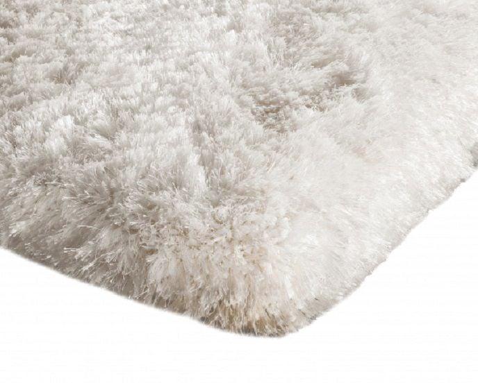 Dywan pluszowy mikrofibra wysoki shaggy 120x170 biały na Arena.pl