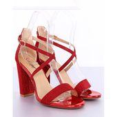 Sandałki na słupku czerwone NC791 Red r.36 zdjęcie 5