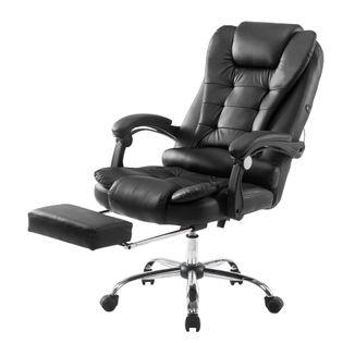 Biurowy fotel obrotowy ekoskóra. SL11. Czarny. Nowość