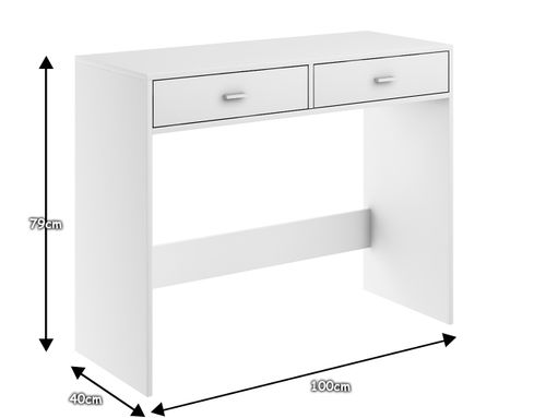 biurko MEGA BIAŁE konsola stolik pod laptop z szufladami producent na Arena.pl
